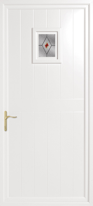 Brampton Fusion Red Yellow uPVC panel door from Bicester UPVC direct