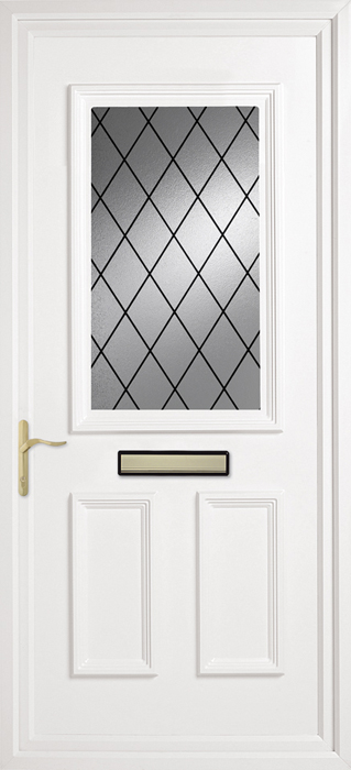 Chatteris Diamond Lead uPVC panel door from Bicester UPVC direct