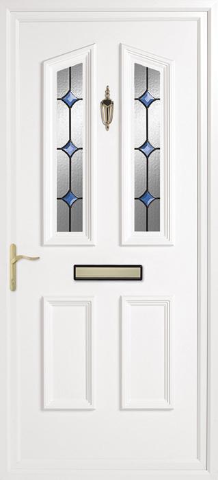 Colne blue solar uPVC panel door from Bicester UPVC direct