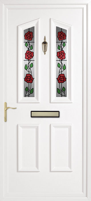 Colne Climbing Rose uPVC panel door from Bicester UPVC direct