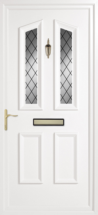Colne Diamond Lead uPVC panel door from Bicester UPVC direct