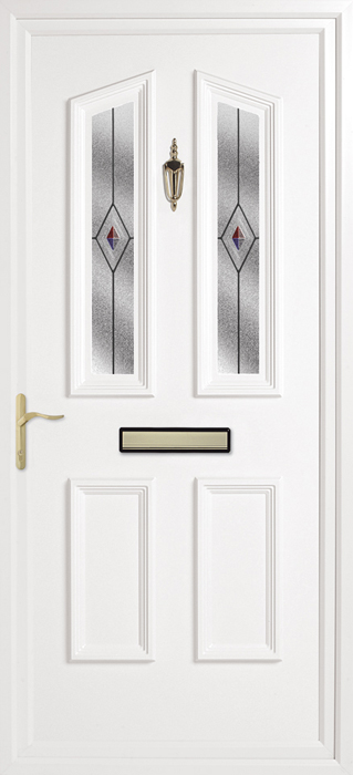 Colne Fusion Red Blue uPVC panel door from Bicester UPVC direct