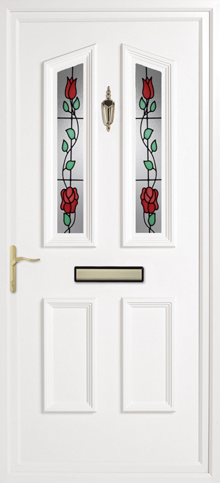 Colne Rambling Rose uPVC panel door from Bicester UPVC direct