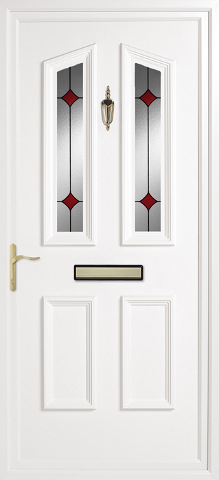 Colne Ruby Diamonds uPVC panel door from Bicester UPVC direct