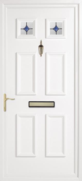 Doddington Oyster blue solar uPVC panel door from Bicester UPVC direct
