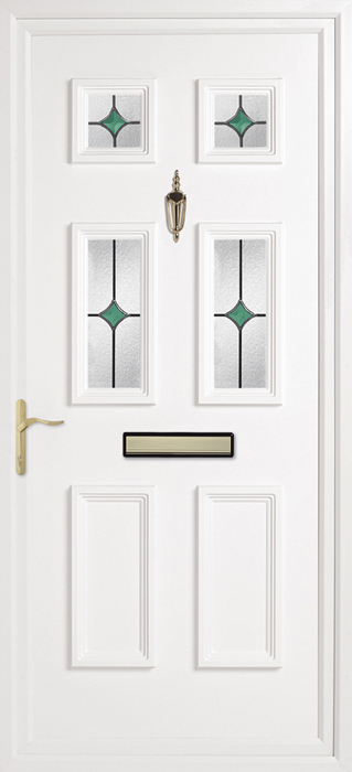 Doddington Oyster green solar uPVC panel door from Bicester UPVC direct