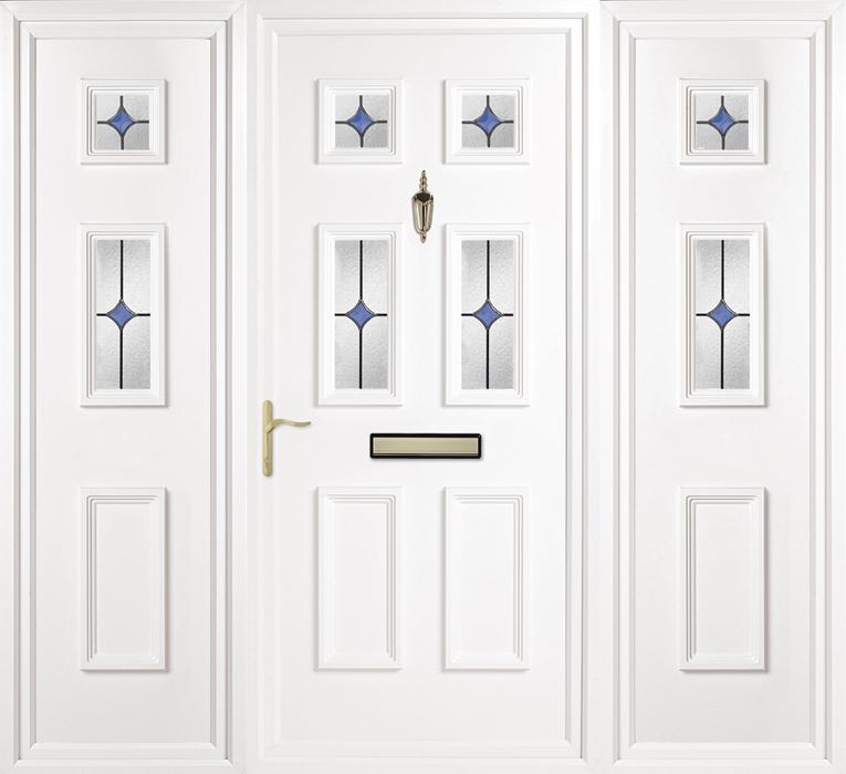 Doddington Blue Oyster Side Panel uPVC panel door from Bicester UPVC direct