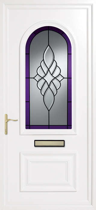 Earith purple royale uPVC panel door from Bicester UPVC direct