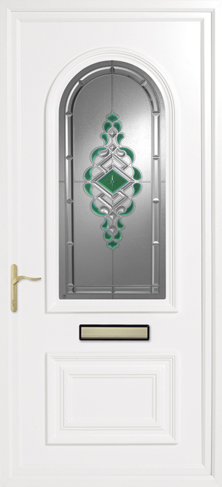 Earith Green uPVC panel door from Bicester UPVC direct