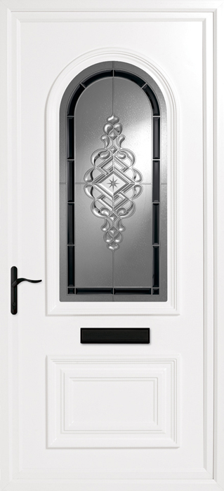 Earith Black uPVC panel door from Bicester UPVC direct