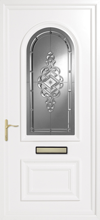 Earith Clear uPVC panel door from Bicester UPVC direct