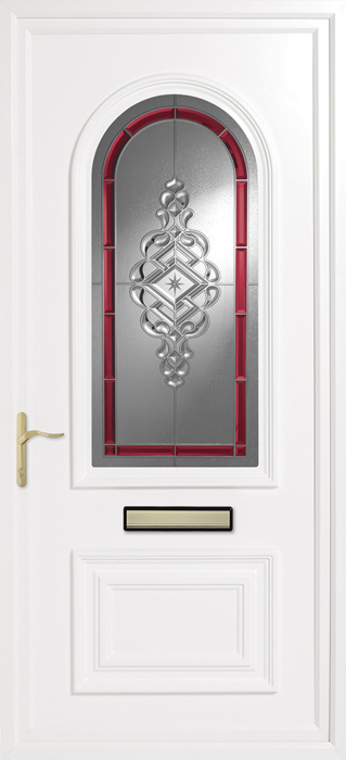 Earith Red uPVC panel door from Bicester UPVC direct
