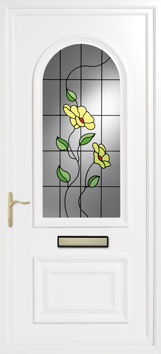 Earith Spring Poppy uPVC panel door from Bicester UPVC direct