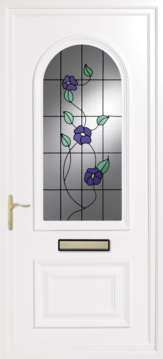 Earith Spring Violets uPVC panel door from Bicester UPVC direct