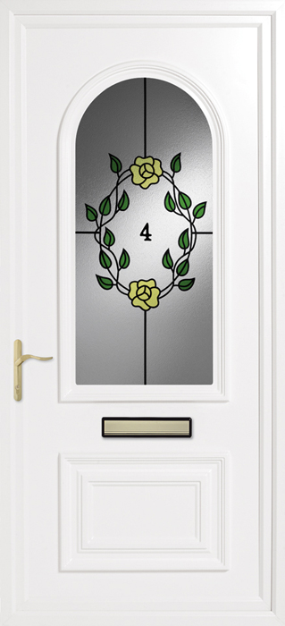 Godmanchester Wild Rose uPVC panel door from Bicester UPVC direct