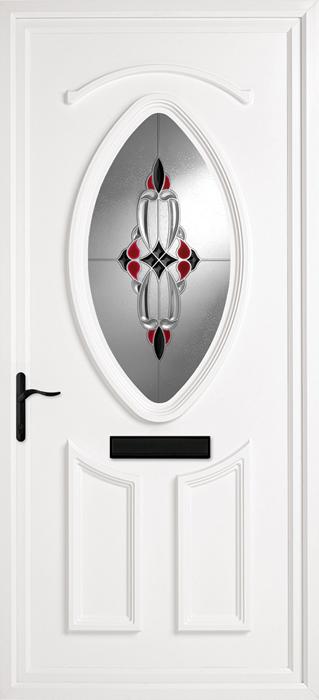 Hemingford Red Black uPVC panel door from Bicester UPVC direct