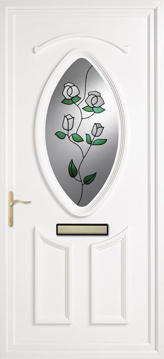 Papworth Blue Pillar upvc panel door from Bicester UPVC direct