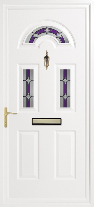Kings tri-solar purple Inverted Mouldings uPVC panel door from Bicester UPVC direct