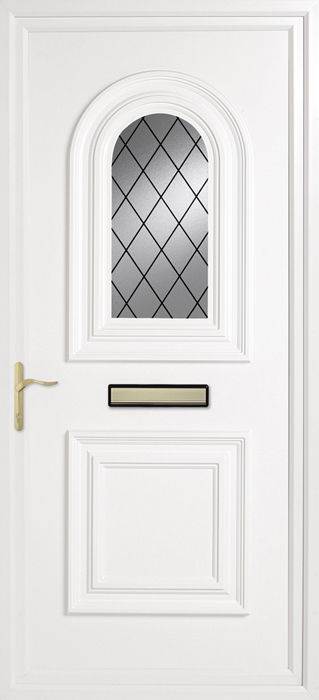 March Diamond Lead uPVC panel door from Bicester UPVC direct