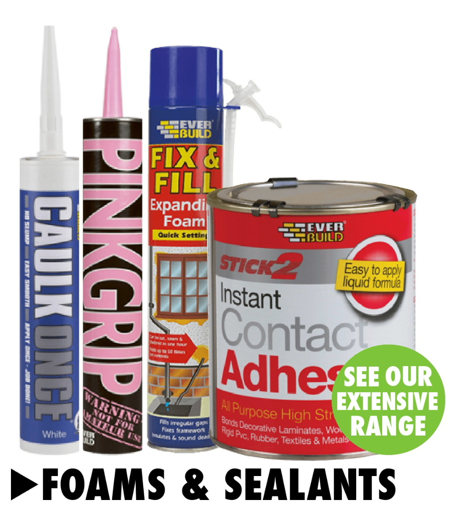 Foams and sealants from Bicester UPVC direct