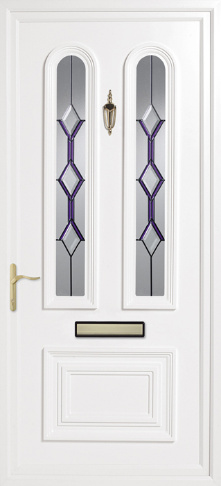 Papworth Blue Silhouette upvc panel door from Bicester UPVC direct
