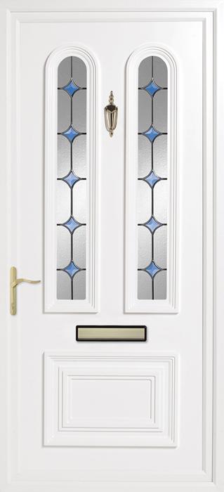 Papworth Blue Solar upvc panel door from Bicester UPVC direct