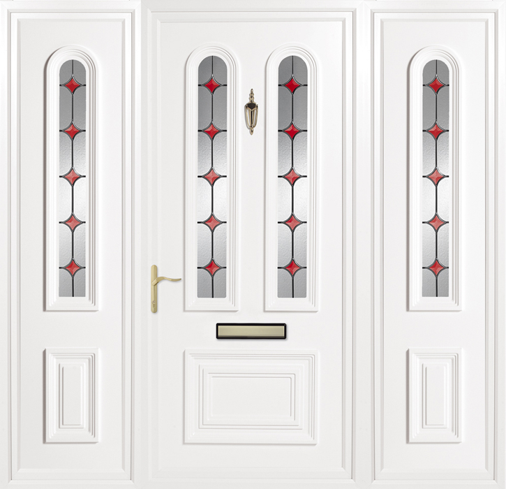 Papworth Red Solar Side Panel uPVC panel door from Bicester UPVC direct