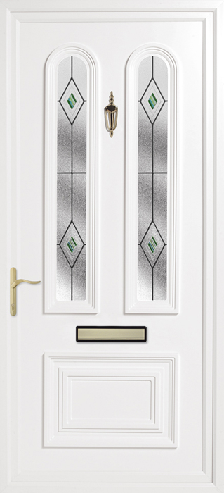 Papworth Green uPVC panel door from Bicester UPVC direct