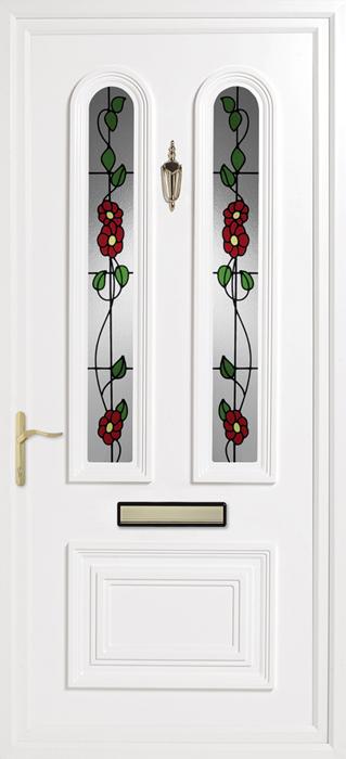 Queen's Green Solar upvc panel door from Bicester UPVC direct