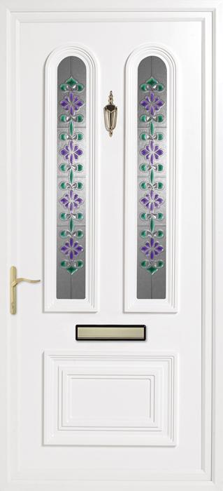 Papworth Green Purple uPVC panel door from Bicester UPVC direct
