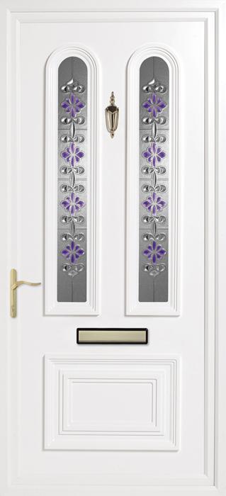 Papworth Purple uPVC panel door from Bicester UPVC direct