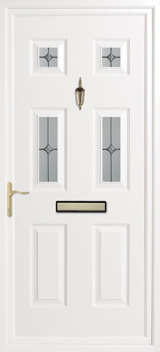 Queens Diamond Inverted Mouldings uPVC panel door from Bicester UPVC direct