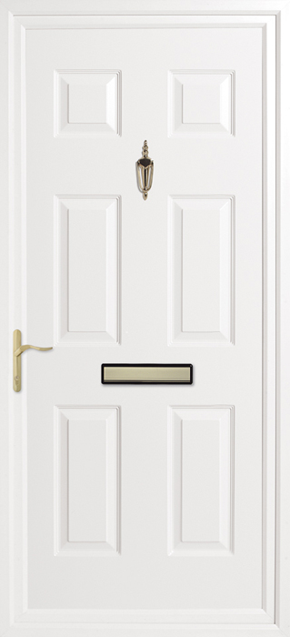 Queens Solid Inverted Mouldings uPVC panel door from Bicester UPVC direct