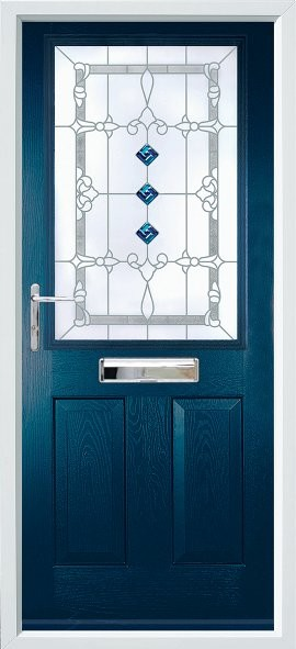 Beeston composite door - blue