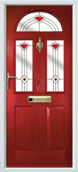 Conway composite door - red