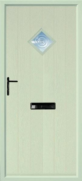 Flint composite door - green