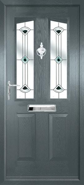 Harlech composite door - quad grey
