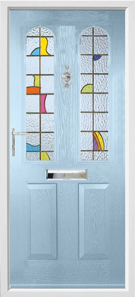 Nottingham composite door - duck egg blue