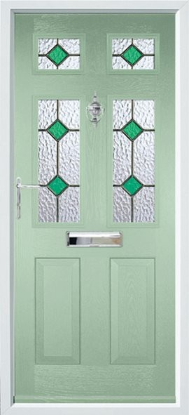 Tenby composite door - green