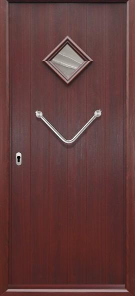 Italia composite door- Rosewood