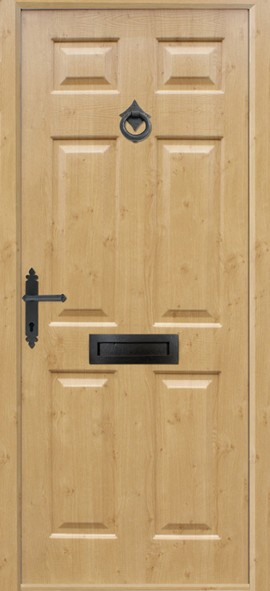 Tenby composite door - Irish Oak