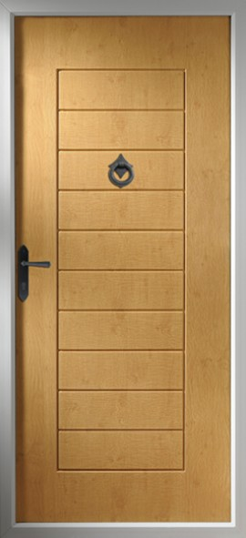 Windsor composite door - Irish Oak