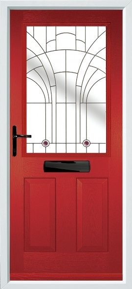 Beeston composite door - Red