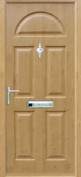 Conway composite door - Irish Oak