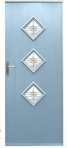 Flint composite door - duck egg blue