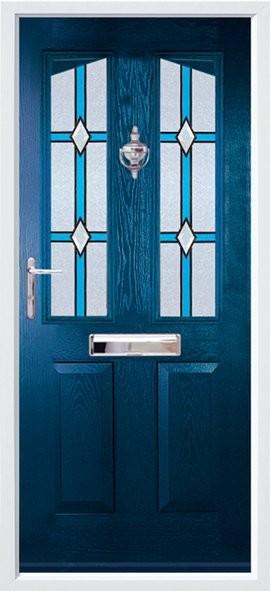 Harlech composite door - blue