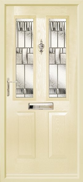 Ludlow composite door - cream