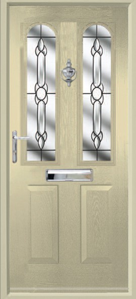 Nottingham composite door - cream