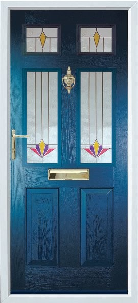 Tenby composite door - Blue