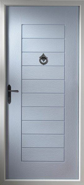 Windsor composite door - duck egg blue